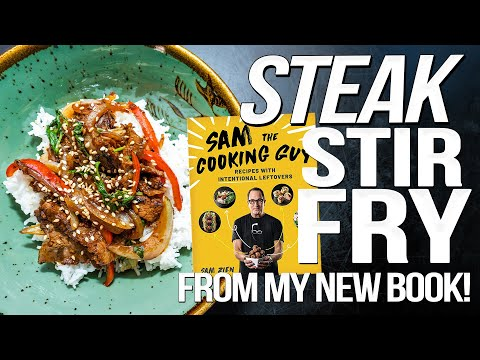 TAKING STEAK LEFTOVERS & TURNING THEM INTO MAGIC (RECIPE FROM MY NEW BOOK!) | SAM THE COOKING GUY 4K
