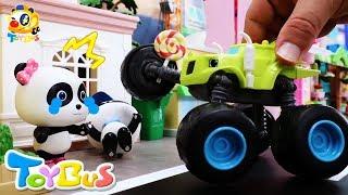 パトカーのうた❤救助車のうた❤はたらく車 のりものの歌❤トイバス(ToyBus)キッズ おもちゃアニメ