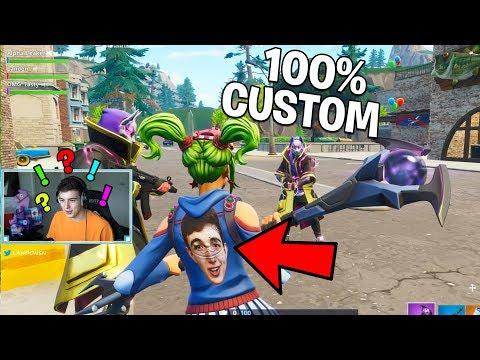 So we made 100% CUSTOM SKINS in Fortnite.. (Fortnite Battle Royale)