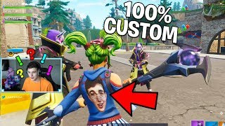 So we made 100% CUSTOM SKINS in Fortnite.. (Fortnite Battle Royale)