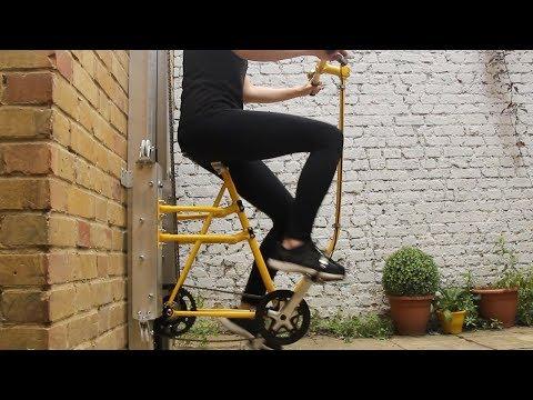 Вертикальный велосипед, заменяющий лифт в высотных зданиях
