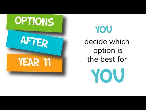 A video for young people and parents on post-16 option