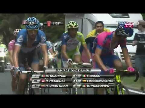 The winning stage at the Giro d'Italia 2012