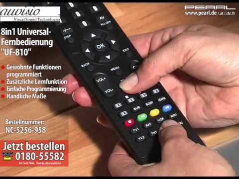 """auvisio 8in1 Universal-Fernbedienung """"UF-810"""""""