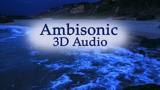 Fall Asleep With Ambisonic 3 Dimensional Wave Sounds, Deep Sleeping By The Sea with Binaural Audio