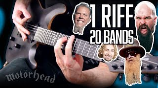1 Riff 20 Bands! | Pete Cottrell
