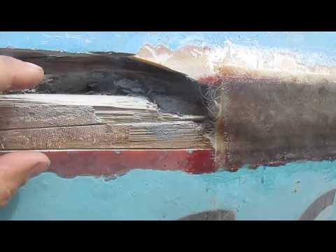 Ремонт борта лодки