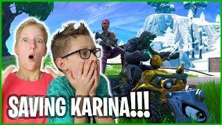 PLAYING FORTNITE WITH KARINA!!!
