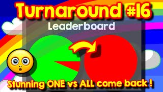 Agario Team Mode Turnaround #16, stunning ONE vs ALL come back, last man standing