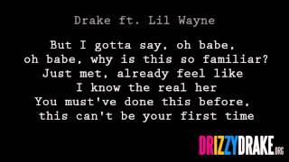 Drake ft. Lil Wayne - The Real Her Lyrics [VIDEO]