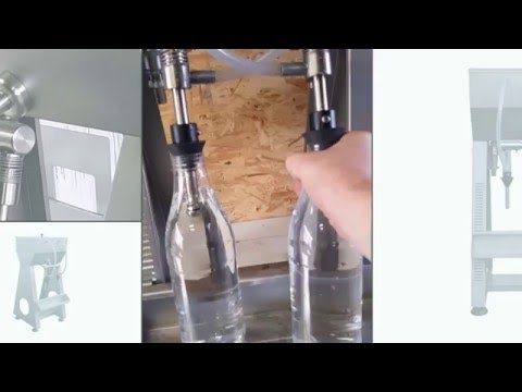 Flaschen-Abfüllgerät mit 2 Abfüllstutzen / Füll-Ventilen