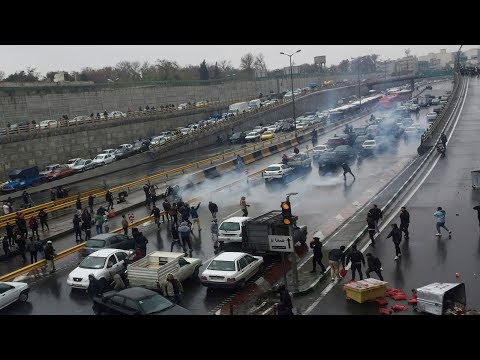 Watch: Unrest in Iran as Iranians protest against petrol price hike