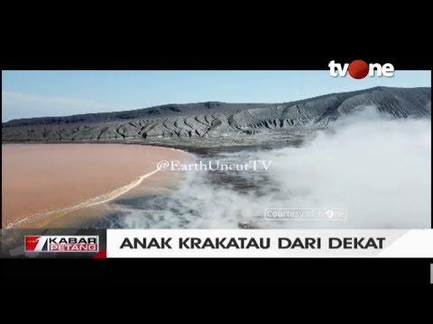 Wow! Inilah Kondisi Terkini Gunung Anak Krakatau Dari Jarak Sangat Dekat