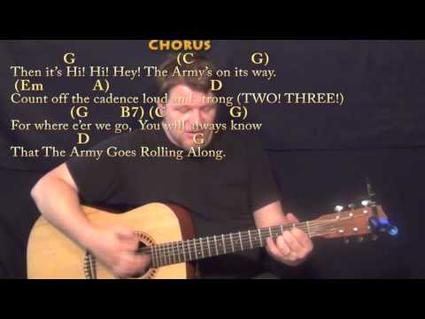 The Army Goes Rolling Along (US Army Song) Strum Guitar