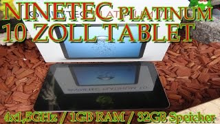 """""""NINETEC 10 ZOLL TABLET MIT 4x 1,5GHz + 1GB RAM + 32GB SPEICHER"""" -Vorstellung"""