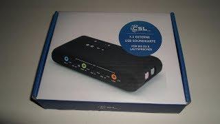 CSL-Computer 7.1 Channel USB Soundkarte