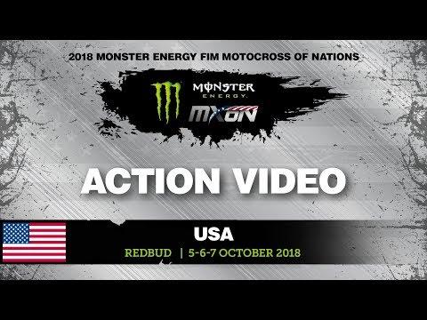 Hunter Lawrence vs Aaron Plessinger - MX2 Qualifying Monster Energy FIM MXoN 2018