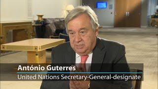 """António Guterres: """"Empowerment and protection of women and girls is a central priority"""""""