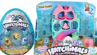 Hatchimals CollEGGtibles Season 5 Mermal Magic Coral Castle Playset and 4 Pack Unboxing Toy Review