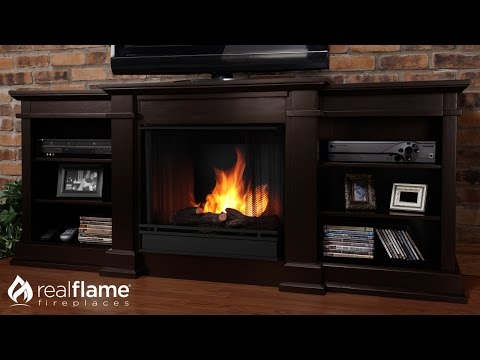 Real Flame Fresno 71-Inch Gel/Electric Fireplace Media Console
