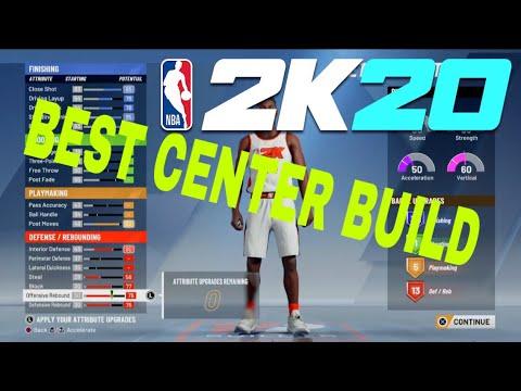 BEST CENTER BUILD NBA 2k20! Best Big Man Build NBA 2k20 Demo