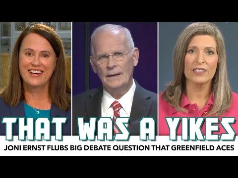 Joni Ernst Flubs Big Debate Question That The Democratic Candidate Aces