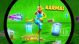 Top 10 PERFECT Fortnite INSTANT KARMA MOMENTS!