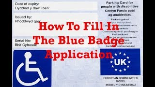 How To Fill In The Blue Badge Application