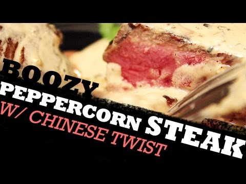 Boozy Peppercorn Steak with a Chinese Twist | Best of Both Worlds