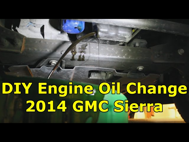 easy diy engine oil and filter change 2014 gmc chevy 1500. Black Bedroom Furniture Sets. Home Design Ideas