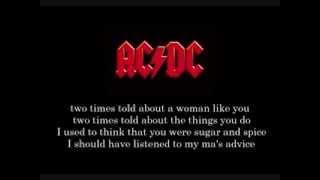 ac dc - Kicked In The Teeth (Lyrics)