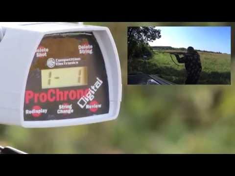 Тест пороха Ирбис через хронограф.  Test powder snow leopard through Chronograph