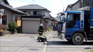 火災時 消防ホースが道路横断するとこのようになる!
