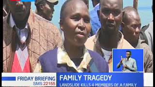 Family Tragedy: Landslide kills 4 members of a family