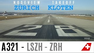 preview picture of video 'Zürich Kloten Runway 28 Takeoff'