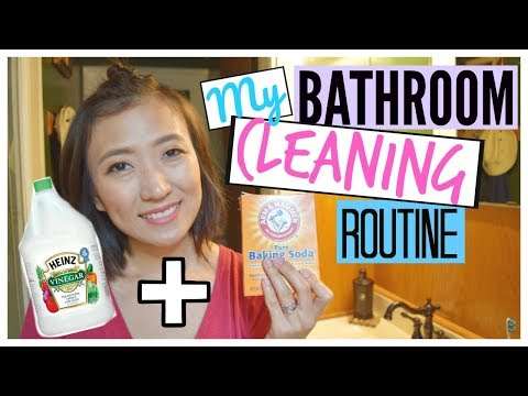 How to DEEP CLEAN Your Bathroom with BAKING SODA and VINEGAR | MY BATHROOM  CLEANING ROUTINE!