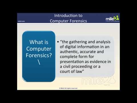 Certified Digital Forensics Examiner (CDFE) - Complete Video ...