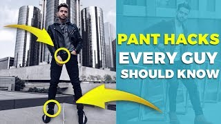 5 PANT HACKS EVERY GUY SHOULD KNOW | Men's Fashion Hacks | Alex Costa