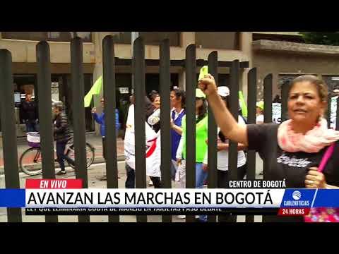 Asi transcurrio la marcha del Paro Nacional por la Carrera Septima en Bogota