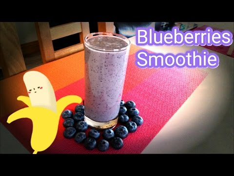 Blueberry  Banana Smothie for a quick and healthy snack