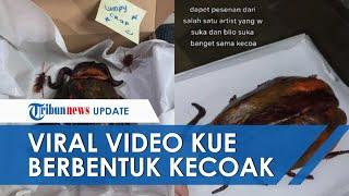 VIRAL Video Kue Berbentuk Kecoak Raksasa, Ternyata Dipesan Khusus oleh Seorang Seniman