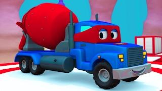 Siêu xe Carl và xe trộn bê tông ở thành phố xe   Phim hoạt hình về xe dành cho thiếu nhi