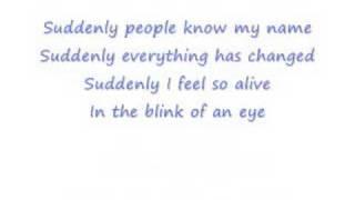 Ashley Tisdale - Suddenly (with lyrics)