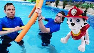 Щенячий патруль в аквапарке. Оптимус Прайм и герои Акватим.