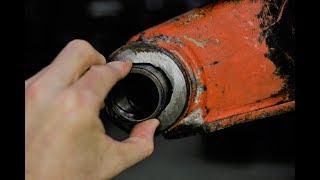 Worn excavator boom bore - needs line boring and bore welding done