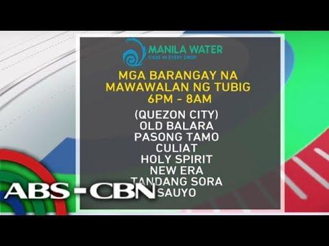 [ABS-CBN]  News Patrol: 7 barangay sa QC, mawawalan ng tubig