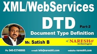 DTD (Document Type Definition) Part-2 | XML Tutorial | Mr. Satish B