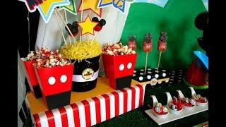 30 Ideas Para Fiesta De Mickey Mouse / Mickey Mouse Party Ideas - Ronycreativa Manualidades