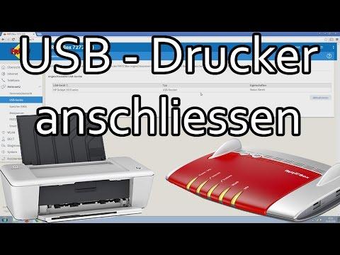 Fritzbox USB Drucker anschliessen und im Netzwerk einrichten