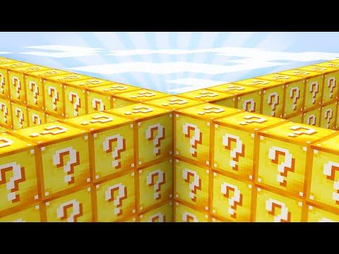 Minecraft but I secretly use Lucky Blocks..